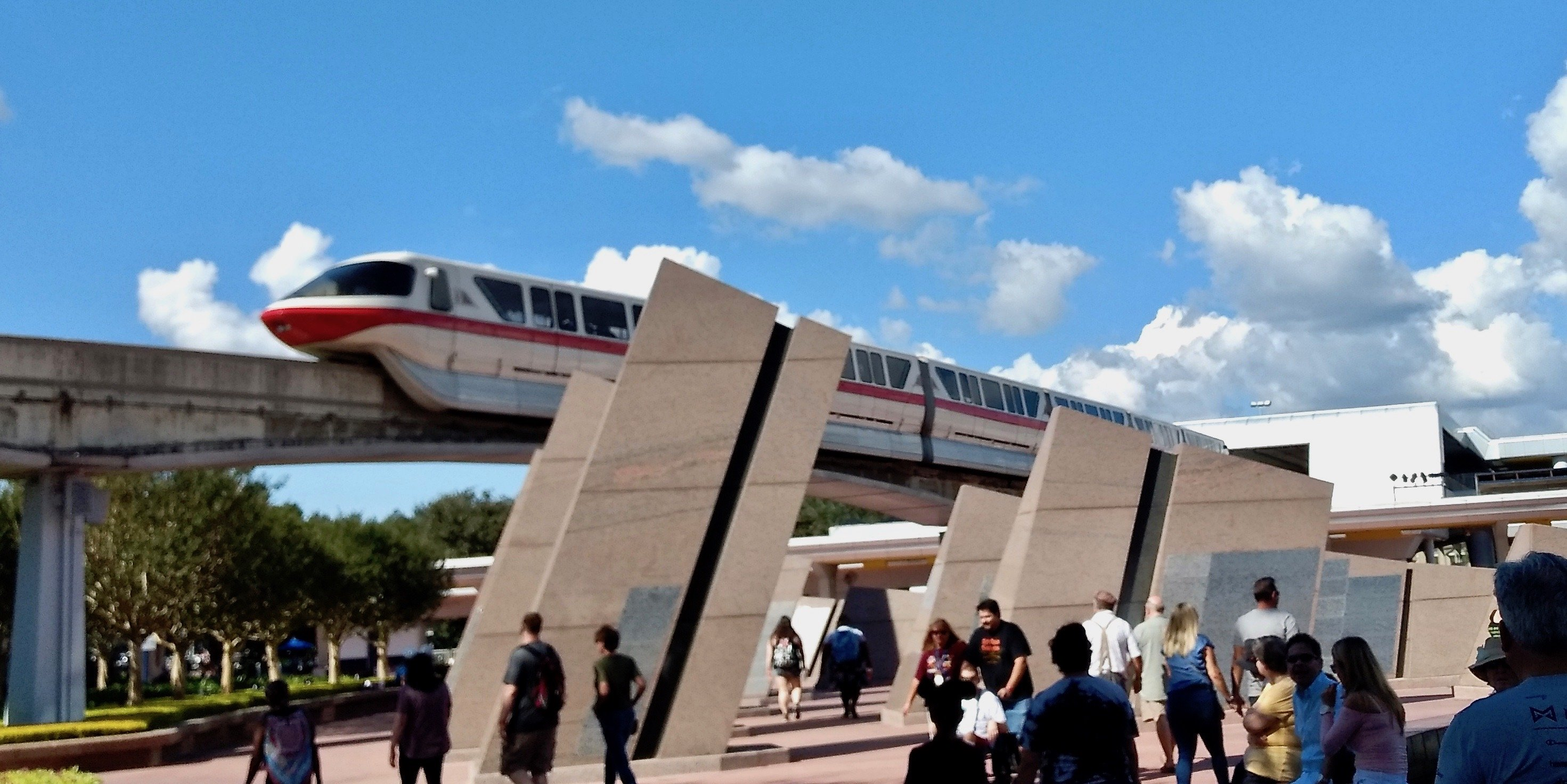 The monorail makes it easy to travel from the Magic Kingdom to Epcot.