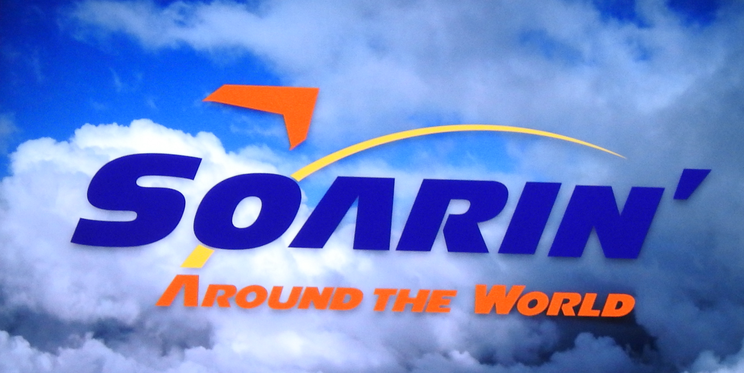 In Soaring, you are seated in a row of about 8 seats. When the video begins, you are lifted up and feel like you are part of the action. You visit some of the most famous places on earth.