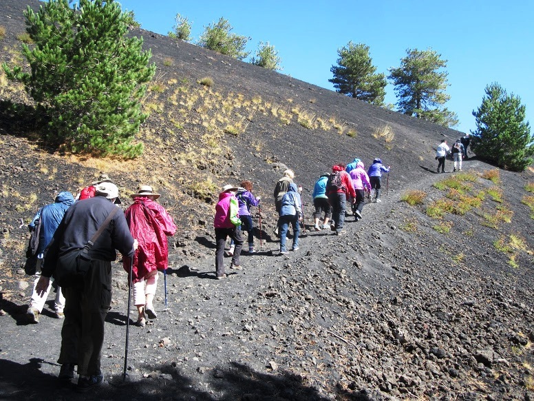 Hiking up St. Etna