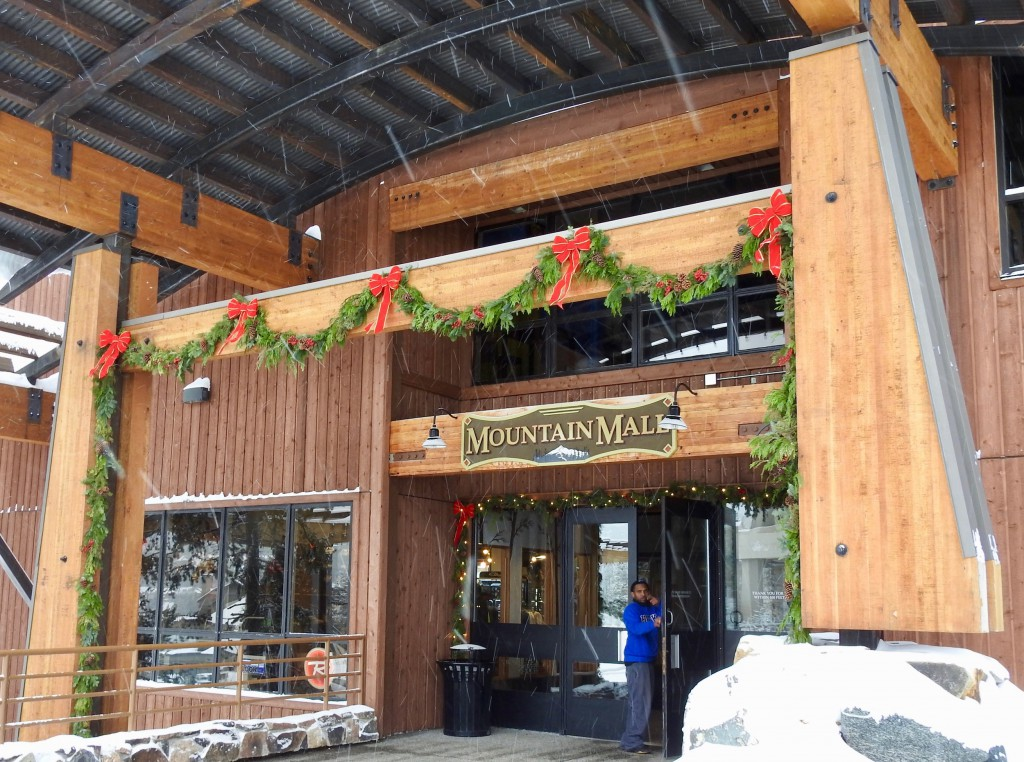 Mountain Mall has shops and cafes to service your needs during your skiing adventure.
