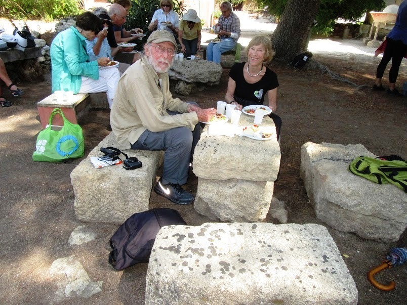 Picnic lunch on 2700 year old Phoenician stones