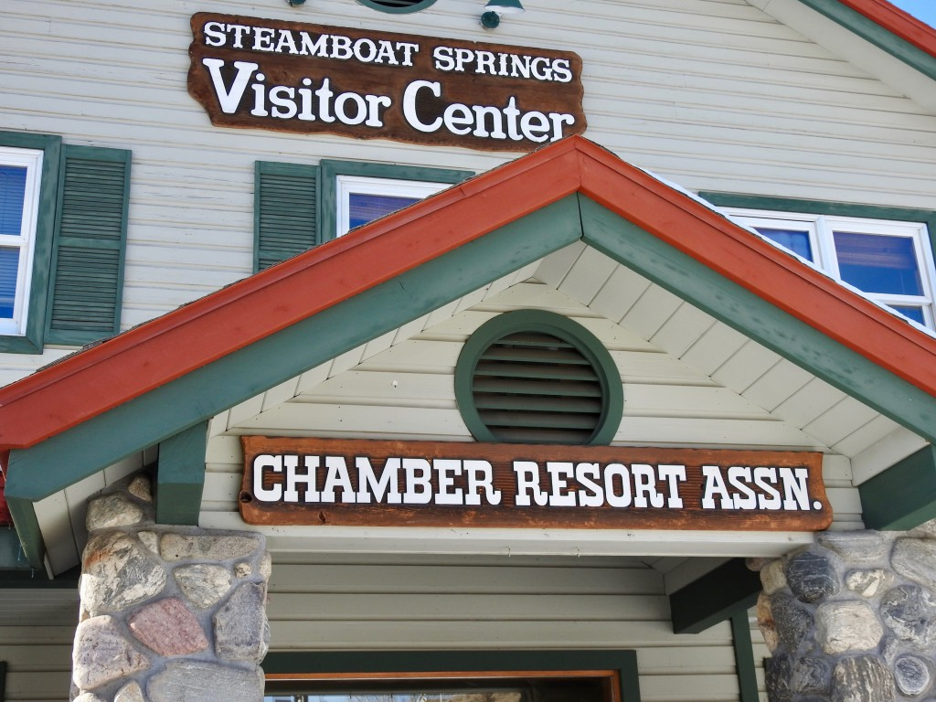 Steamboat Springs Visitor's Center, located between downtown and the ski area.