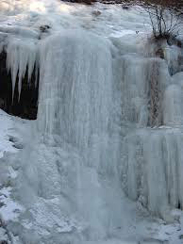 Frozen waterfall, courtsey of Google free photos.