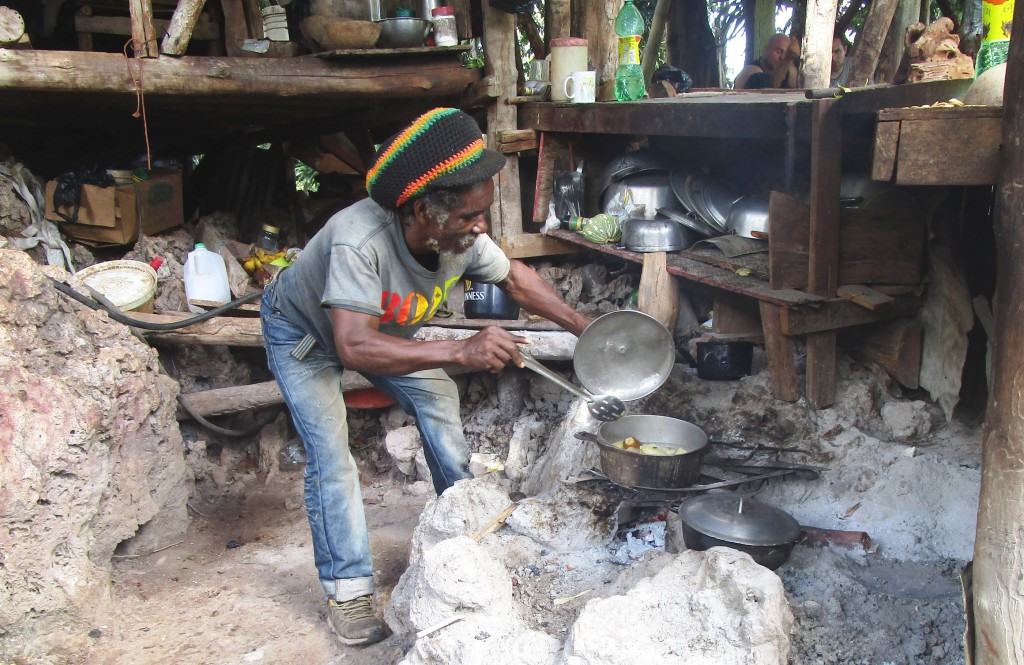 Fire cooking lunch Photo by Fyllis Hockman