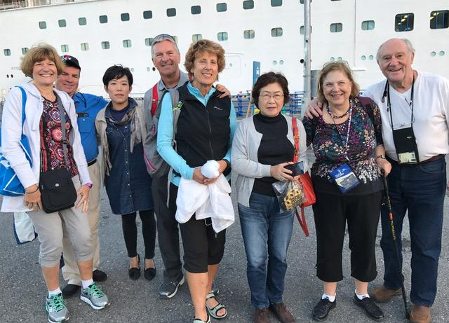 Sayonara to our guides and driver at the Diamond Princess