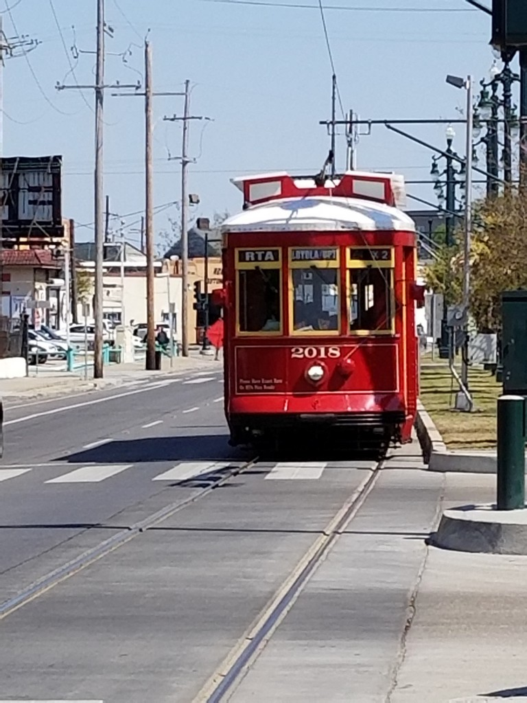 The N. Rampart Street trolley. Not as old as the St. Charles, but a great ride.