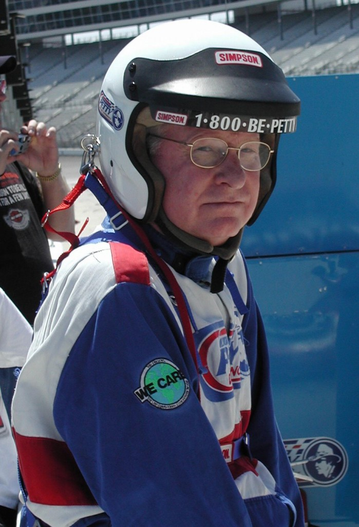 Bill Neely at the Texas Speedway anticipating the Richard Petty Driving Experience