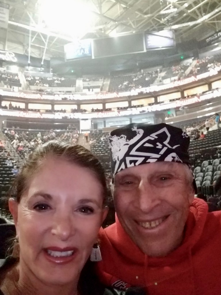 Bruce and Annie at Vivint Arena just before the beginning of the Eagles' concert.