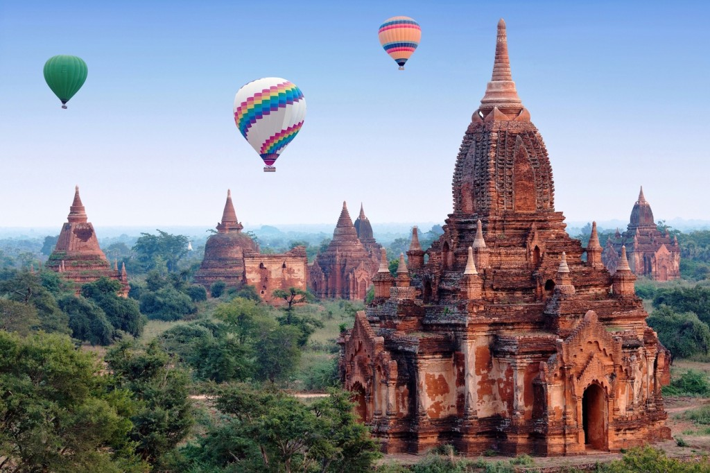 Bagan Temples as seen from hot air balloons Photo credit:  Zzvet@DreamsTime. com