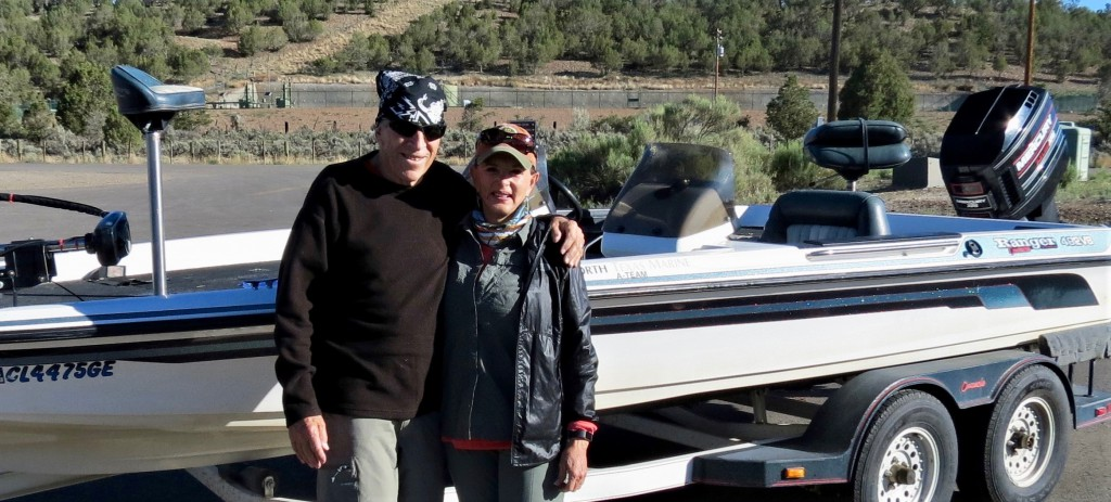 Bruce and Annie at Lake Navajo getting ready to fish for bass