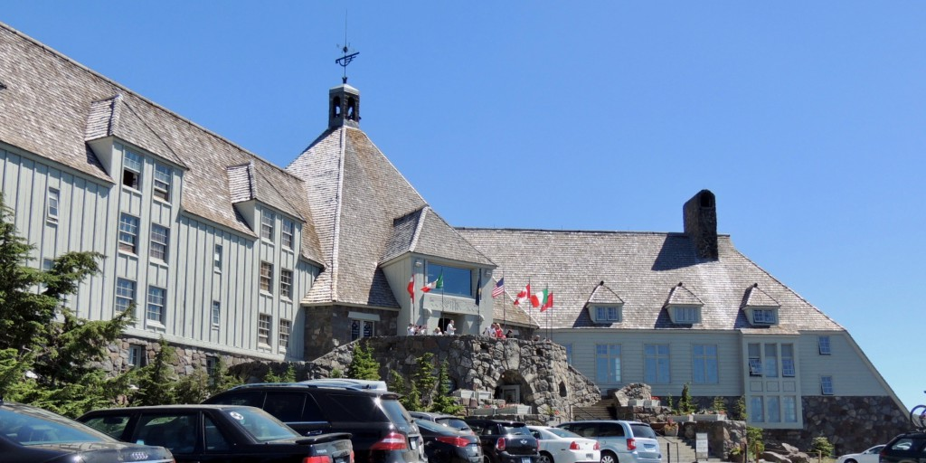 Timberline Lodge, dedicated by FDR in 1937.