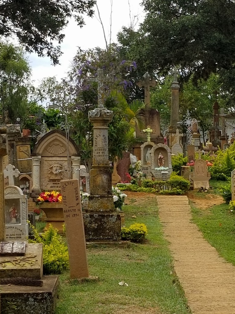 This cemetery has many ancient tombs and a tranquil park in front of the gates.