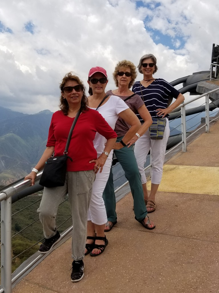 The 4 Mujeres posing at the Monumento a la Santandereanidad. Bottom to Top:  Tan, Annie, Karen, and Pam