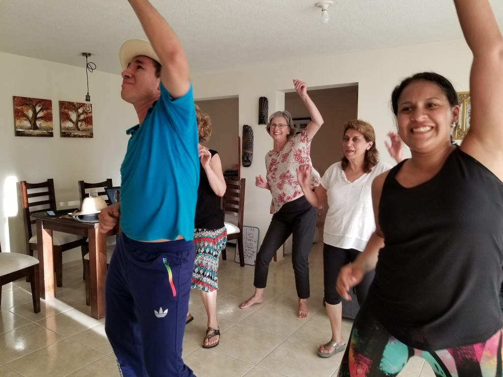 Oliver and Neyda teaching us some Colombian dance moves.